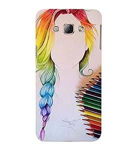 Vizagbeats color pencil sketch Back Case Cover for Samsung Galaxy A8::Samsung A8 2015