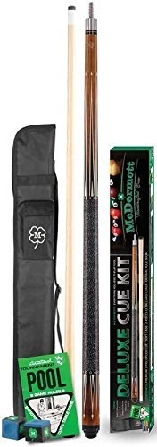 McDermott Deluxe Pool Cue Kit by McDermott Cues (19 Oz Pool Cue)