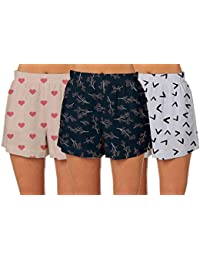 ADYK Sublimation Multicloured Printed Shorts for Womens Pack of 3