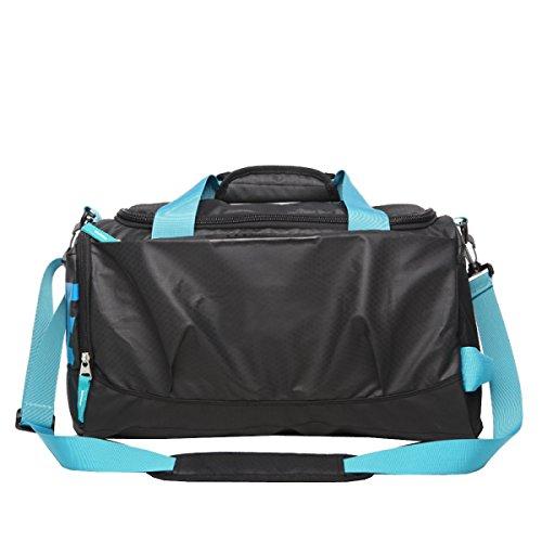 LAIDAYE Für Reisen Koffer Gymnastik-Sport-Camping - Leicht Faltbare Sporttasche Fitnesstasche Große Kapazität Handtasche Blue