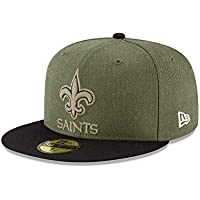 a0bc2b42b New Era New Orleans Saints 59fifty Basecap On Field 2018 Salute to Service