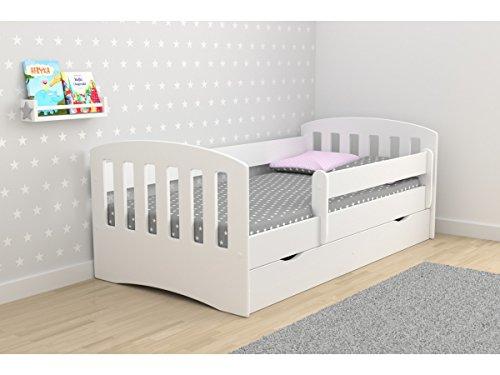 Kinderbett Kinder Junior Kinder Einzelbett mit Matratze und Aufbewahrung im lieferumfang enthalten–Classic (Kinder-einzelbett-rahmen Für Mädchen)