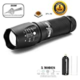 amiciVision Zoomable Water resistive Tactical Flashlight 12W with CREE XP-L V6 LED, Beam