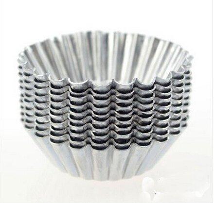 Dealglad Cupcakeform, Backzubehör, ideal für Egg Tarts, dünnes Aluminium, 20 Stück