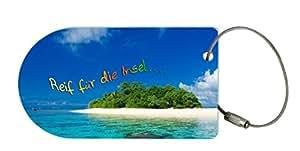 """metALUm Premium Gepäckanhänger """"Insel"""""""
