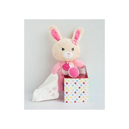 Babynat - Doudou Babynat Lapin Rose mouchoir blanc Cœur Kawaii - 9011 5ceb53e38ea