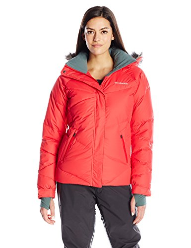 Columbia Sportswear Company Ltd Damen-Lay D DOWN Skijacke Xs Red Camellia