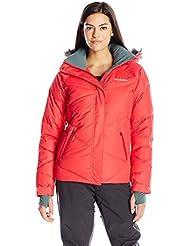 Columbia Lay D–Chaqueta de esquí para mujer, color Red Camellia, tamaño medium
