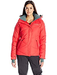 Columbia Lay D – Chaqueta de esquí para mujer, color Red Camellia, tamaño medium