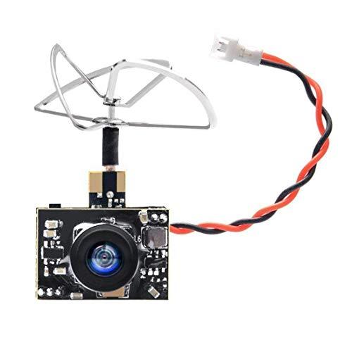 GOQOTOMO GT01 600TVL Micro AIO Kamera und 40CH 25mW FPV Video Sender Combo mit Klee Antenne für FPV Indoor Racing - Power-indoor-antenne