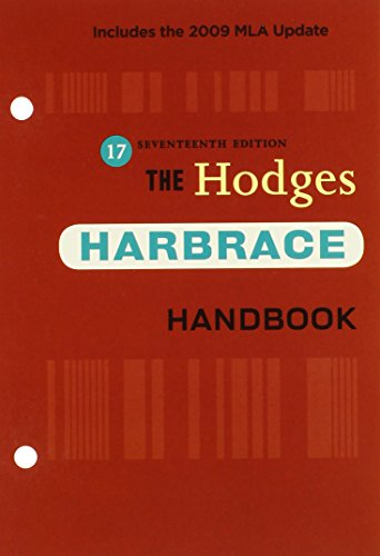 The Hodges Harbrace Handbook: Includes the 2009 MLA Update