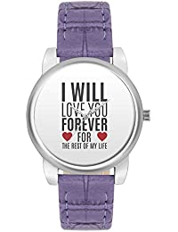 Valentines Day Gifts - BigOwl I Will Love You Forever | For Lovers Him/Her Fashion Watches For Girls - Awesome...