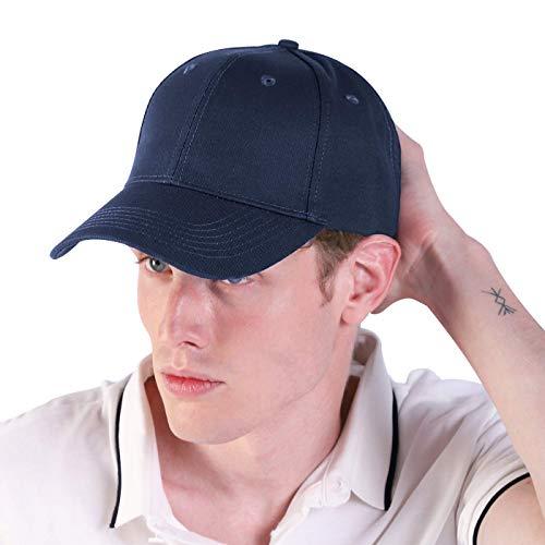 Bwiv Baseball Cap Herren Verstellbar Basecap Luftlöchern Sonnenschutz Damen Baseballkappe Cap Unisex Mütze Baumwolle Cappy für Sport Reisen Draußen Dunkelblau