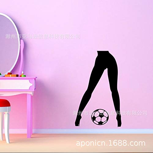 ljmljm Schwarze 56x90cm europäische und amerikanische reizvolle Beinfußball Geschnitzte Schlafzimmerausgangsdekorationaufklebergewohnheit -