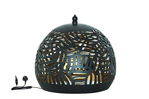 Emporio Arts lzc-648 bt-bg Panier Zebra gravure Lampe de table abat-jour, fer, noir à l'intérieur or, E27, 40 Watts