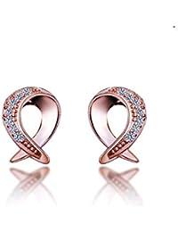 7ee2b877f1ba MWTWM Sterling Silver Espárragos Originalidad Cocinera Aretes Moda Damas  Diamond Earrings