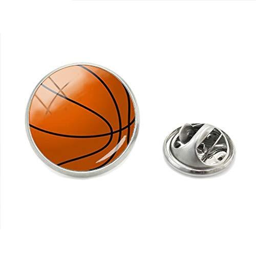 CCJIAC Mode Basketball Baseball fußball Fotos anstecknadeln sportbegeisterte Schmetterling Silber schmuck Herren Kragen pin -