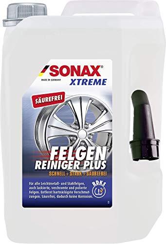SONAX XTREME Felgenreiniger PLUS (5 Liter) effiziente & säurefreie Reinigung aller Leichtmetall- und Stahlfelgen sowie lackierte, verchromte und polierte Felgen | Art-Nr. 02305050