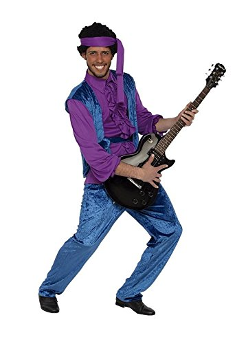 KOSTM-JIMI-Gre-52-L-Rock-and-Roll-Musiker-farbiger-USA-amerikanischer-Snger-Komponist-Gitarrist
