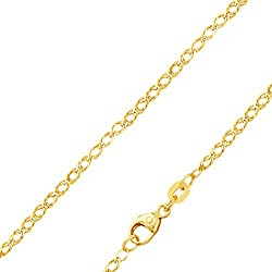 Halskette Goldkette für Damen und Herren ohne Anhänger - 333-er Echtgold - Halskette Necklace Choker 50 cm 2 mm mehrreihige Gold-Kettchen Herren-Schmuck Partnerlook tolles Geschenk