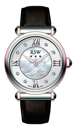 RSW RSWL101 - Orologio da donna al quarzo, analogico, in pelle