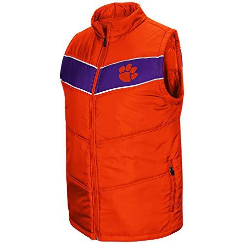 Colosseum NCAA Herren Weste Beaulieu Full Zip Puff Vest, Herren, Clemson University Tigers, Small -