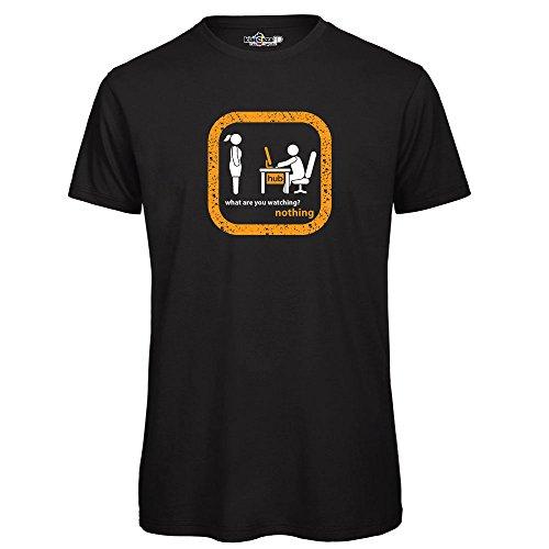 Camiseta KiarenzaFD porno oculto Idea regalo divertido Streetwear, TSBS_00010-L-black, negro, Large