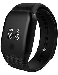 Pulsera Actividad Demiawaking Reloj Inteligente Pulsera Bluetooth 4.0 A88+ Impermeable de IP65 con Pulsómetro Podómetro OLED Pantalla Alertas de Mensaje Recordatorio de Llamada Smartwatch