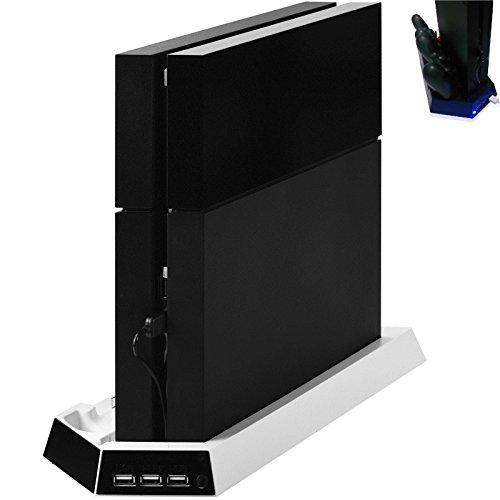 PS4 für Playstation 4 Controller LED Standfuß Charger Vertikal Lüfter Kühler