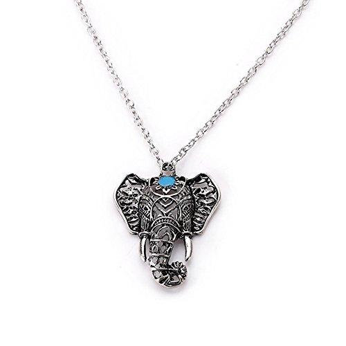 Ruikey Collar Bohemio de Elefante Vintage Collares Mujer Colgante Regalo de la Joyería