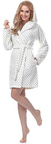Merry Style Damen Morgenmantel MSFX546 Ecru