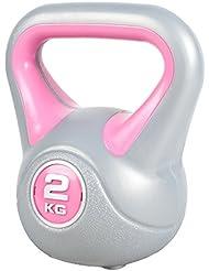Gorilla Sports Kettlebell Stylish 2-20 KG - Gorilla Sports Kunststoff Kugelhantel Schwunghantel Gewichte