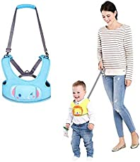 Babies Bloom Blue Animal Shaped Baby Walking Harness with (Voice Belt) (10 Months to 24 Months)