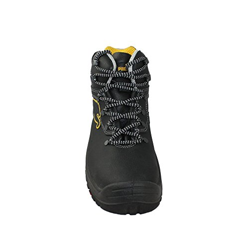 Puma chaussures de sécurité s3 sRC sicherheitsschuh berufsschuhe businessschuhe chaussures de trekking (noir) Schwarz
