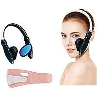 Adelgazante Facial Vendajes De Cara Máscara V Line para Adelgazar Antiarrugas Cuidado Facial Piel Compacto Adelgazante Facial Faja Vendajes Máscara para Adelgazar,Negro