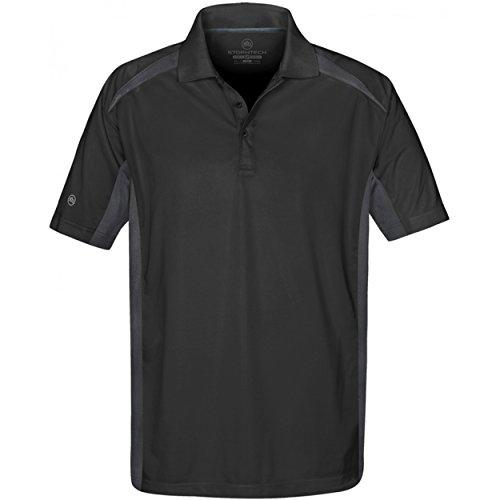 Stormtech Herren Polo-Shirt, besonders leicht, zweifarbig, Kurzarm Schwarz/Anthrazit