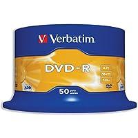 Verbatim 43548 4.7GB 16x DVD-R Matt Silber - 50 Pack Spindel