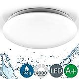 B.K.Licht LED Deckenleuchte Bad, NEUTRALweisses Licht, 18W IP44 385mm Durchmesser, Badezimmerleuchte, Badlampe
