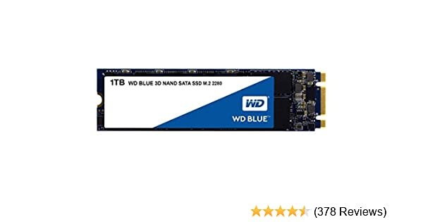 WD Blue 3D NAND Internal SSD M.2 SATA - 1 TB