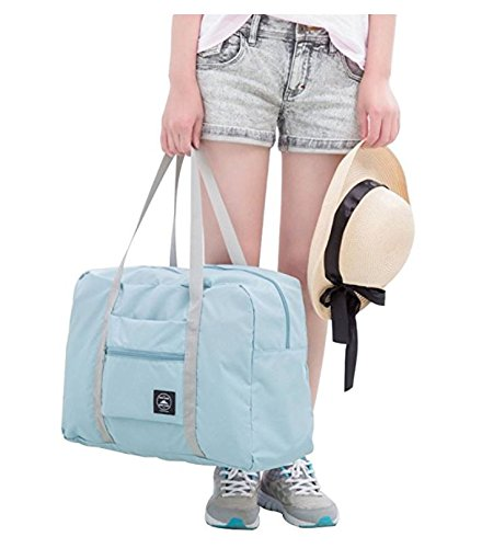 PETRICE Lightweight Foldable Packable Travel Handbag Shoulder Organizer Storage Carrying Bag for Shopping Gym Luggage Sports Camping (Color May Vary)