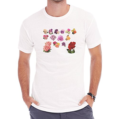 Flowers Nature Blossom Plant Mnay Roses Colors Herren T-Shirt Weiß