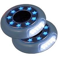 Buggylight Kinderwagenlicht Blau Doppelpack (2 Stück) - Sehen und gesehen werden mit dem Kinderwagen