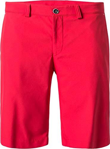 Mikrofaser Herren-shorts (Brax Golf Herren Bermuda-Shorts Mikrofaser/Funktion Kurze Hose Unifarben, Größe: 48, Farbe: Rot)