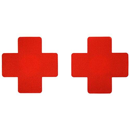 10 Paar Damen Brust Aufkleber Brust Aufkleber Krankenschwester Abdeckung Brustwarzenabdeckung Nippelabdeckung Brust Aufkleber Aufkleber Einweg Nippel Sticker - Rot (Wieder Zu Tanzen Kostüme)