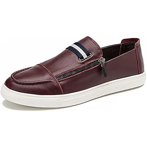 2016La primera capa de zapatos de cuero ocasionales de confort/zapatos casuales desgaste suave