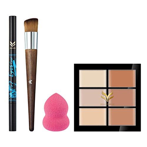 Sharplace Set De Palette Correcteur Fond de Teint Concealer Anti Cernes Eye Liner Stylo Maquillage