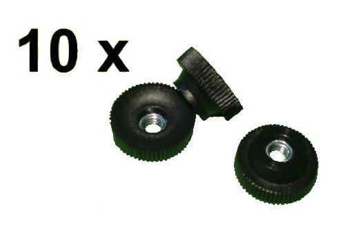 10x Rändelmutter M6 Kunststoff Stahl verzinkt, Rändelmuttern