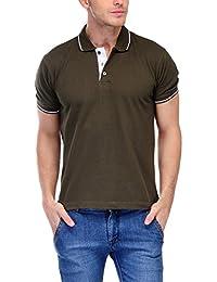 Scott Men's Premium Cotton Polo T-shirt - Military Green