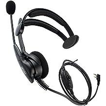 Coodio KHS1 Kenwood Radio Auriculares 2 Pin Micro-Auricular Micrófono [Cancelación de Ruido] Seguridad y Bodyguard Para 2-Pin Kenwood Plug Walkie-Talkie Transceptor Emisor y Receptor PMR