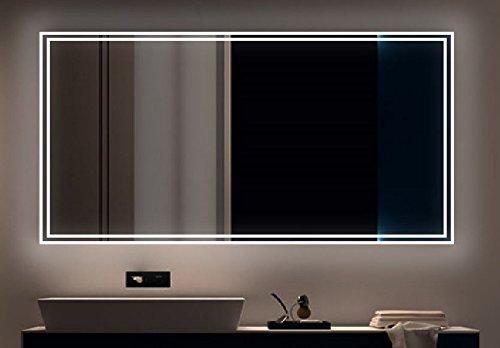 LED Badezimmerspiegel mit Beleuchtung Licht BADSPIEGEL Wandspiegel Lichtspiegel 020 (Breite: 160 x Höhe: 70 cm)